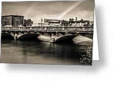 Broadway Bridge With Rainbows Greeting Card
