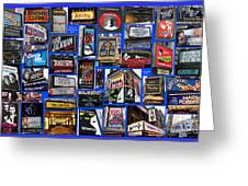 Broadway Collage Greeting Card