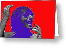 Broadway Joe Namath Telling Football Story C.c. And Co. Set  Tucson Arizona 1970-2012 Greeting Card
