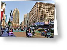Broadway On 34th Street Greeting Card