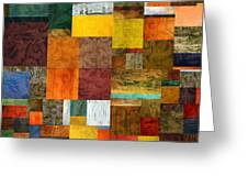 Brocade Color Collage 1.0 Greeting Card