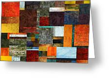 Brocade Color Collage 2.0 Greeting Card