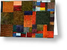 Brocade Color Collage 3.0 Greeting Card