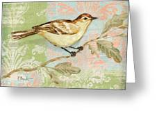 Brocade Songbird I Greeting Card by Paul Brent