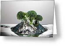 Broccoli Freshsplash Greeting Card