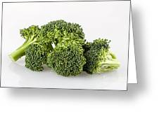 Broccoli Isolated Greeting Card