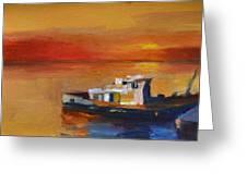 Brod Na Klisanskom Kanalu Greeting Card