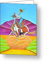The Cowboy From Darby Greeting Card