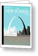 Broken Arch. A Scene From St. Louis Greeting Card