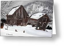Broken Barn Greeting Card