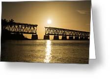 Broken Bridge Greeting Card