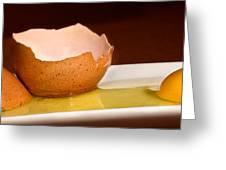 Broken Brown Egg  Greeting Card
