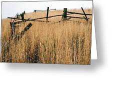 Broken Down Fence Greeting Card