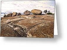 Broken Glacial Erratics Greeting Card