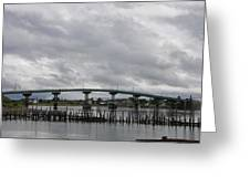 Broken Jetty And Franklin Roosevelt Memorial Bridge   Greeting Card