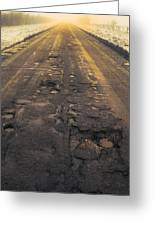 Broken Road Greeting Card