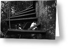 Broken Stairs Greeting Card