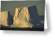 Broken Tabular Icebergs Antarctica Greeting Card