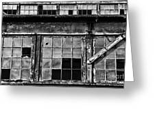 Broken Windows In Black And White Greeting Card by Paul Ward