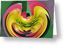 Bromiliad Abstract Greeting Card