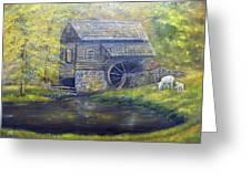 Bromley Mill At Cuttalossa Farm Greeting Card