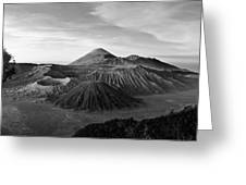 Bromo Valley Java Indonesia Greeting Card