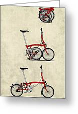 Brompton Bicycle Greeting Card by Andy Scullion