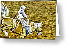 Bronc Rider Greeting Card