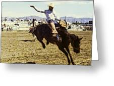 Bronco Rider Greeting Card