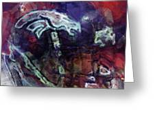 Broncos Art  Greeting Card