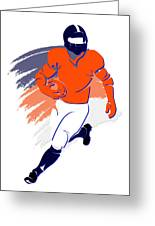 Broncos Shadow Player2 Greeting Card