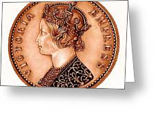 Bronze Empress Victoria Greeting Card