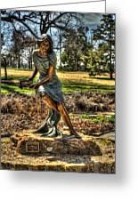 Bronze Girl At Woodward Park Greeting Card