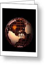 Bronze Globe... Greeting Card