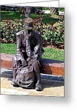 Bronze Mailman Resting Greeting Card