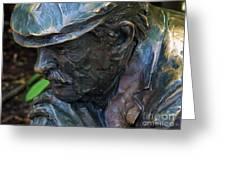 Bronze Man Sitting Greeting Card
