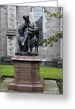 Bronze Statue Of Sir Benjamin Lee Guinness  Greeting Card