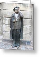 Bronze Statue Stockholm - Evert Taube Greeting Card