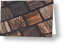 Bronze Tile Squares Greeting Card