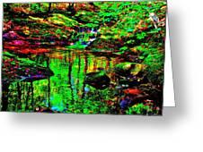Brook Texture Z 7 Greeting Card