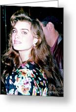 Brooke Shields 1990 Greeting Card