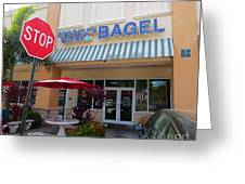 Brooklyn Bagel Restaurant In Delray Beach. Florida. Greeting Card