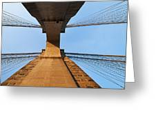 Brooklyn Bridge Abstract Greeting Card