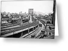 Brooklyn Bridge And Terminal - 1903 Greeting Card