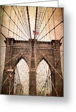 Brooklyn Bridge Approach Greeting Card