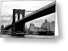 Brooklyn Bridge Circa 1955 Greeting Card