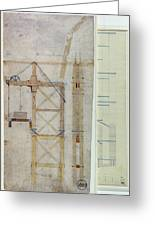 Brooklyn Bridge: Diagram Greeting Card by Granger
