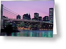 Brooklyn Bridge New York Ny Usa Greeting Card