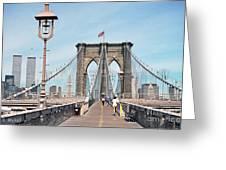 Brooklyn Bridge - New York Greeting Card