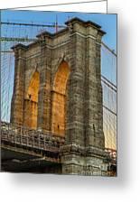 Brooklyn Bridge Tower Greeting Card